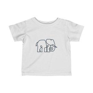 Minimal Elephant | Infant Fine Jersey Tee