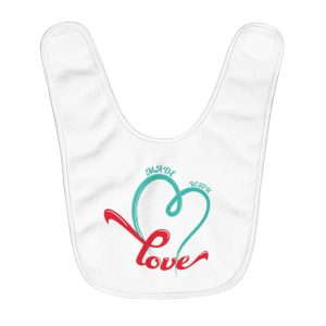 Made With Love | Fleece Baby Bib