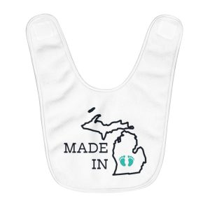 Made in Michigan | Fleece Baby Bib