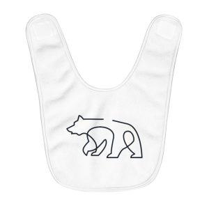 Minimal Bear | Fleece Baby Bib
