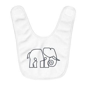 Minimal Elephant | Fleece Baby Bib
