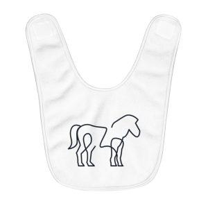 Minimal Horse | Fleece Baby Bib
