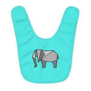 Elephantigami | Fleece Baby Bib