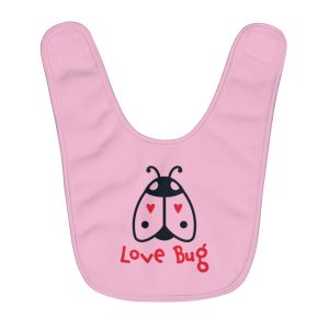 Love Bug | Fleece Baby Bib