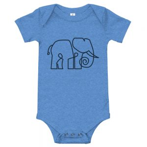 Minimal Elephant | Easy Change Onesie