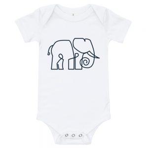 Minimal Elephant   Easy Change Onesie