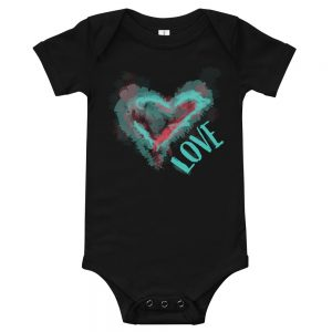 Love on the Watercolor | Easy Change Onesie