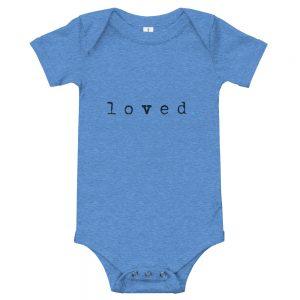 Loved. | Easy Change Onesie, Baby Bodysuit