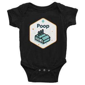 Poop Factory   Easy Change Onesie, Infant Bodysuit