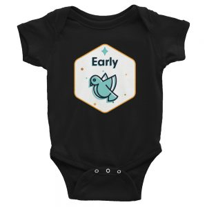 Early Bird | Easy Change Onesie, Infant Bodysuit