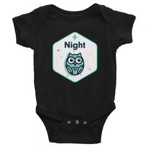 Night Owl   Easy Change Onesie, Infant Bodysuit