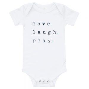 Love. Laugh. Play | Easy Change Onesie, Baby Bodysuit